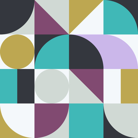 Geometry minimalistic artwork poster with simple shape and figure. Abstract vector pattern design in Scandinavian style for web banner, business presentation, branding package, fabric print, wallpaper.