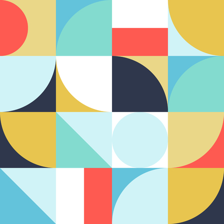 Geometry minimalistic artwork poster with simple shapes and figures. Abstract vector pattern design in Scandinavian style for branding, web banner, business, fashion, prints on fabric, wallpaper. Ilustrace