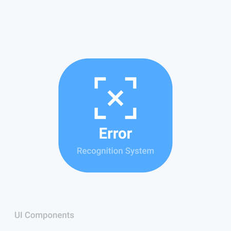 sharp sensor reader recognition cancel error fail icon is designed simple, uncomplicated and minimal to deliver information clearly. Isolated flat, resizable vector.