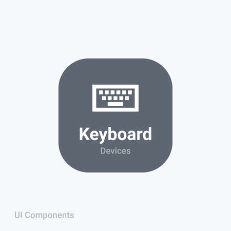 keyboard key interface fully editable vector icon referring 24x24 pixel grid with the material design system for app design projects.
