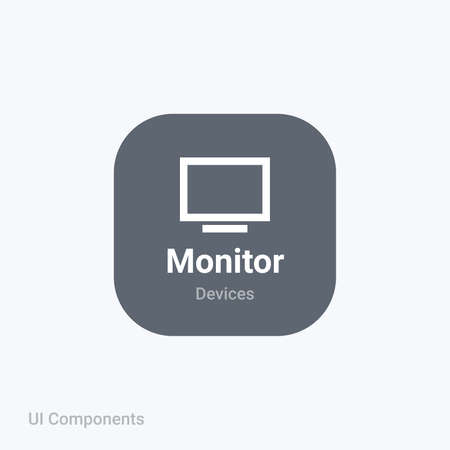 monitor display fully editable vector icon referring 24x24 pixel grid with the material design system for app design projects.