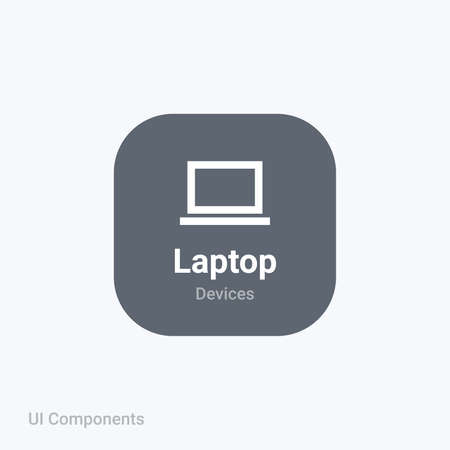 laptop notebook mobile computer fully editable vector icon referring 24x24 pixel grid with the material design system for app design projects.