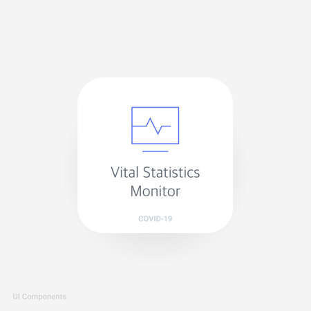 Vital Statistics Monitor Refined Covid 19 Medical Function And Royalty Free Cliparts Vectors And Stock Illustration Image 159420339