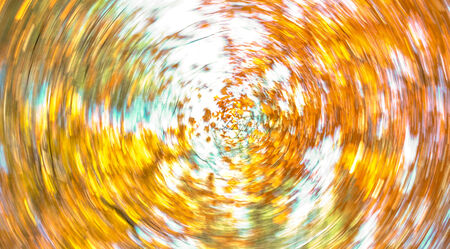 spinning: fall leaves swirl