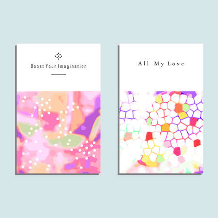 Set of artistic vector greeting cards design colorful frame set of artistic vector greeting cards design colorful frame pattern textures for wedding anniversary m4hsunfo