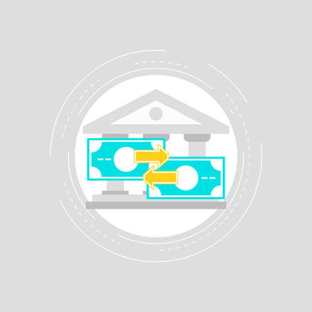 Money transactions flat vector illustration design. Online payments, banking, money transfers. Icon design for web banners and apps Ilustrace