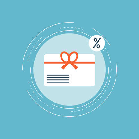 Gift card, special offer, bonus card, discount coupon, premium card flat vector illustration design for web banners and apps