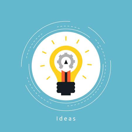 Web design flat vector illustration. Web design development, content management, logo design, graphic design, freelance work, design agency and portfolio concept for web banners and apps Illustration