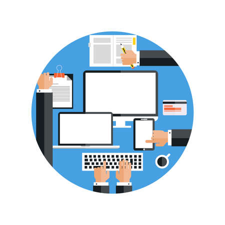 checklist: Work environment concept Illustration
