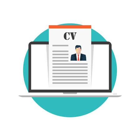 reviews: Job search concept