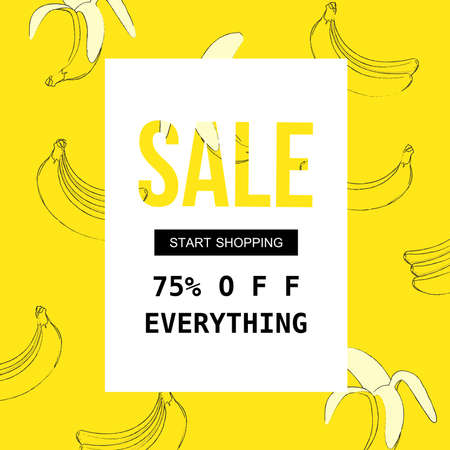 Sale poster for shopping, discount, retail, product promotion vector illustration. Sale banner template Иллюстрация