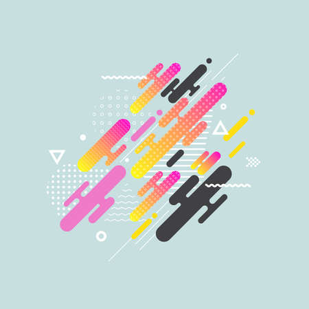Fluid color cover design with gradient vector illustration. Minimalistic design. Background with dynamic design. Colorful pattern texture. Modern cover design. Template background Иллюстрация