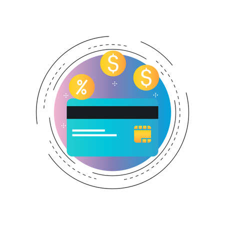 Credit card discount offer, special offer, special discount, credit card payment gradient color vector illustration. Shopping payment options, credit card finance design for web banners and apps