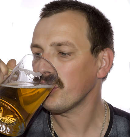 Man drinking beer Stock Photo - 3172775