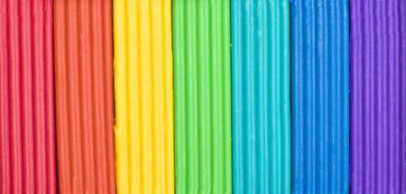 briquettes: Briquettes of childrens plasticine the rainbows colours