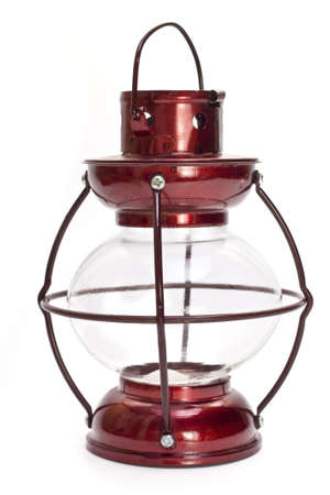 vitreous: Antique lamp over white background