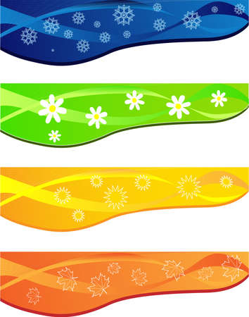 Abstract background with four season Vector