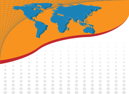 Abstract background with map from http:visibleearth.nasa.gov Vector