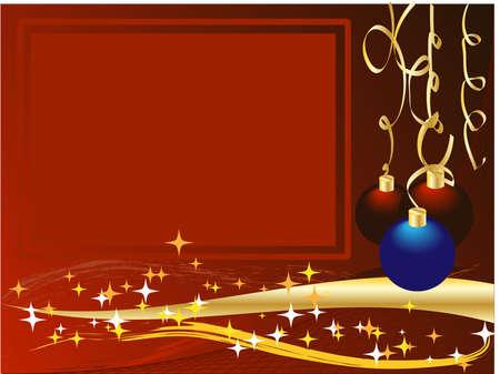 Christmas and New Years balls Vector