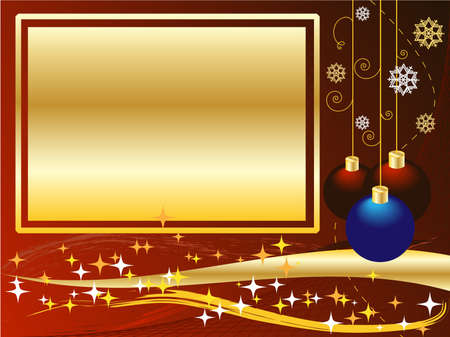 Christmas and New Years balls Vector