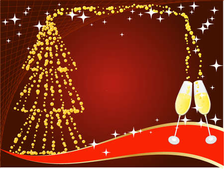 Christmas and New Years background Vector
