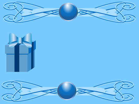 Gift box on background Vector