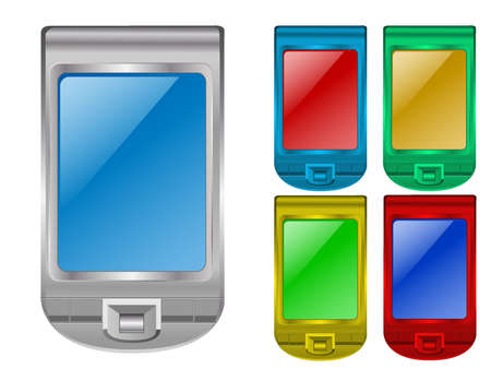 PDA silver and any color Vector