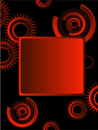 gearings: red gears over black background
