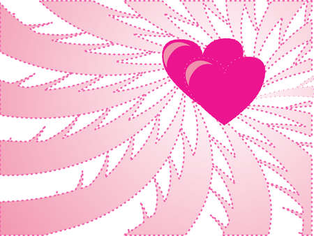 light pink background with heart Vector