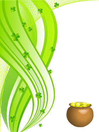 earthenware: Abstract vector background for St. Patricks Day