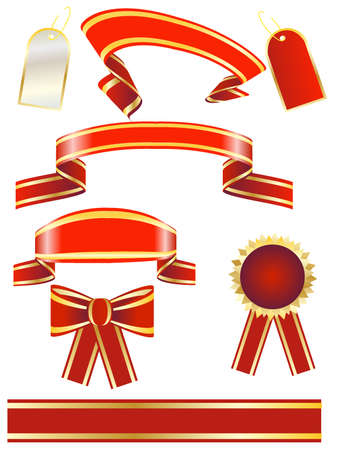 color ribbons for design Vector
