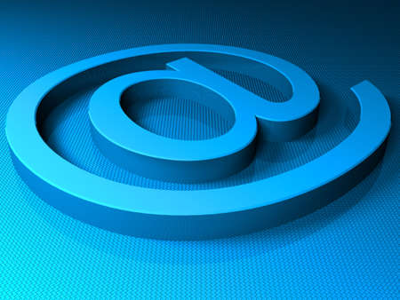 E-mail blue sighn. 3D render Stock Photo - 5146996