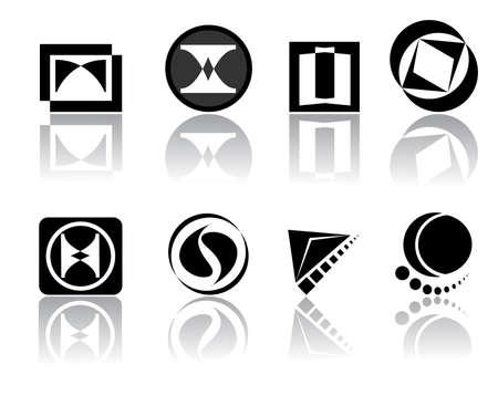 Vector logo set for yor company design Vector