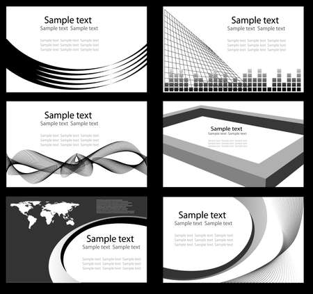 Set of business card any colour Vector
