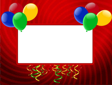 Holiday decoration with ballons Vector