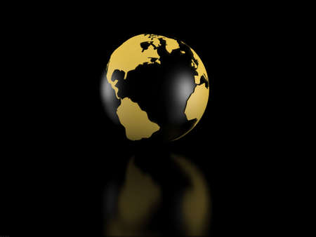 Earth model over black background Stock Photo - 5606368