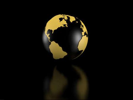 Earth model over black background Stock Photo - 5606368