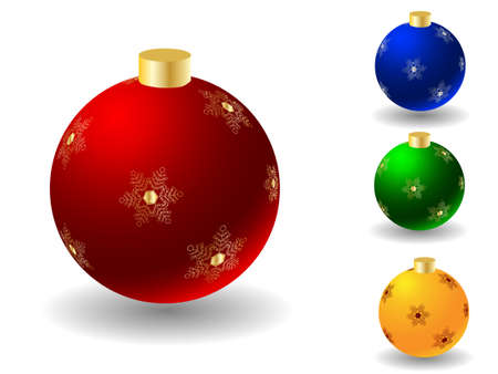 Christmas ball any color over white Stock Vector - 5820992