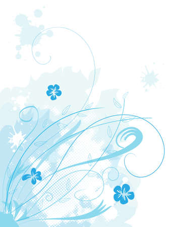 Beautiful floral vector background Stock Vector - 6008326