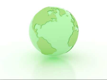 Earth model over white background Stock Photo - 6176959