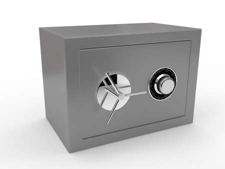 Grey safe over white. 3d render Stock Photo - 6673386