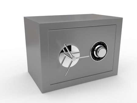 Grey safe over white. 3d render Stock Photo - 6673386