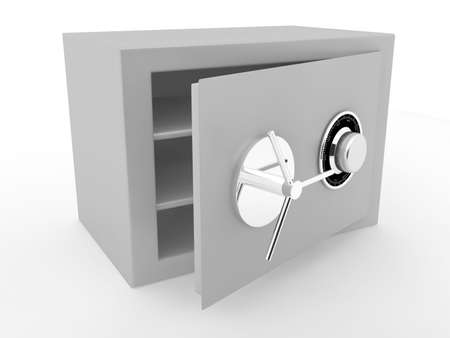 Grey safe over white. 3d render Stock Photo - 6809261