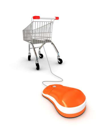 Internet shopping concept . 3d render Stock Photo - 6809341