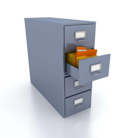 Bookshelf for documents . 3d render photo