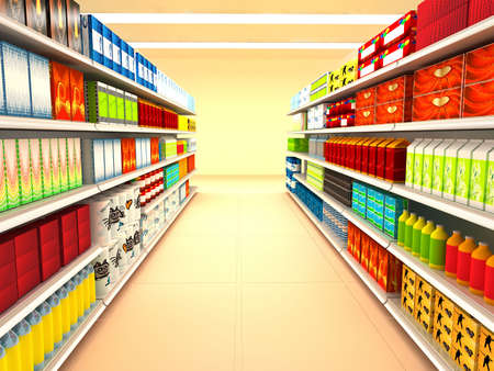 Supermarket. 3d rendered image Stock Photo - 6829107