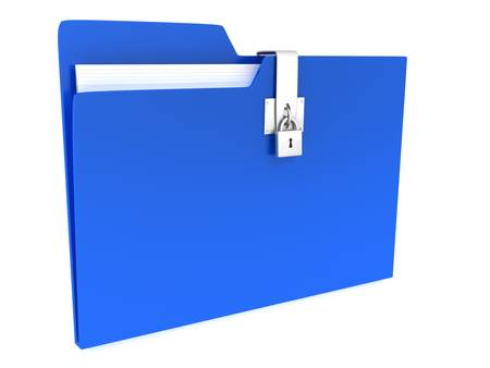 Folder over white background. 3d render photo