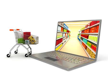 Internet shop. 3d rendered image photo