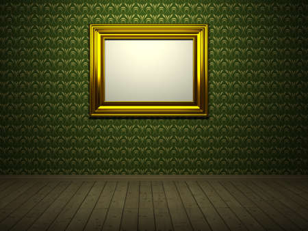 Room with picture. 3d rendered image Stock Photo - 6958835