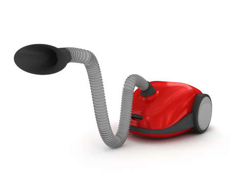Vacuum cleaner over white. 3d rendered image Stock Photo - 6958821